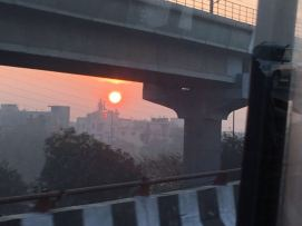 Sunrise through smog
